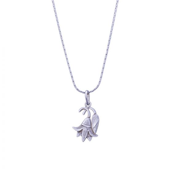 Lotus Necklace, Hand made of Sterling Silver