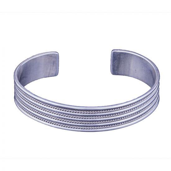 Plain Curved Sterling Silver Bracelet Cuff, Silver Bracelet