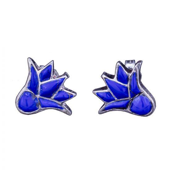 lotus Earrings Silver | Sterling Silver Earrings