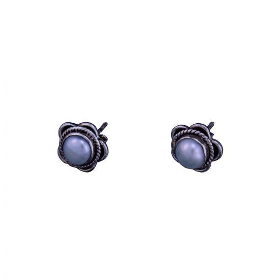 Pearl earrings sterling silver