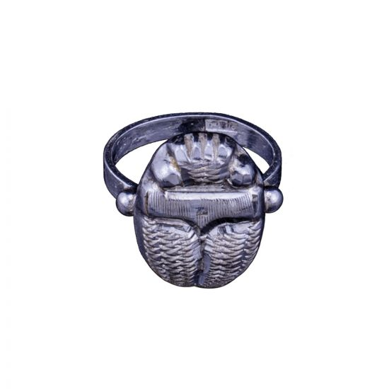 Egyptian Scarab Ring, handmade Sterling Silver Ring