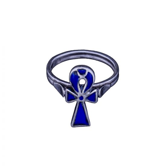 Key of Life Ring, Egyptian Silver Rings,  lapis Rings Silver