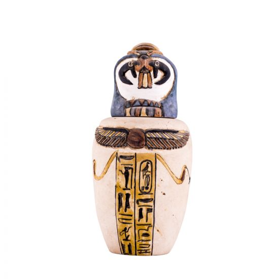 Egyptian Canopic Jars For Sale | Horus Canopic Jar | Basalt Antique
