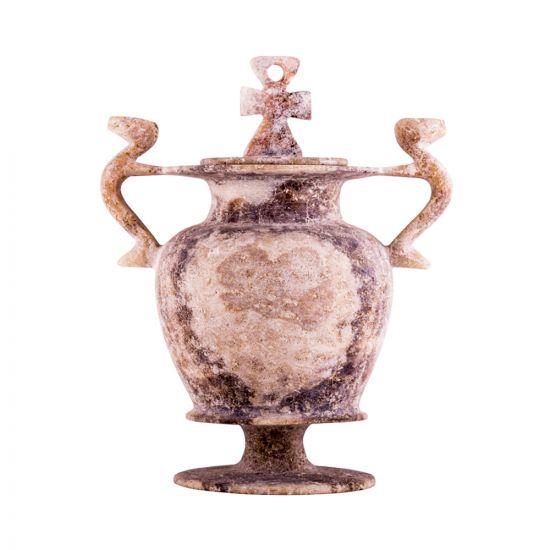 Brown alabaster vase