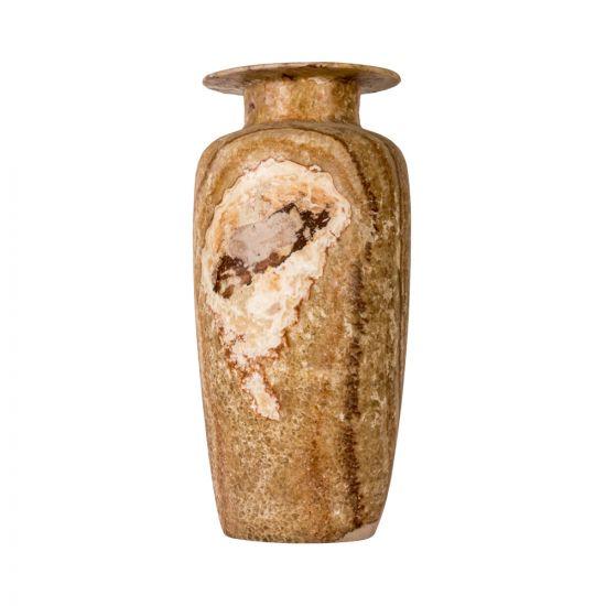 Marble Brown Vintage Vase, handcurved of alabaster stones, Brown marble vase