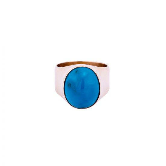 Gold Ring with Turquoise Stone