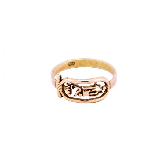 Customize your Name In ancient Egyptian Hieroglyphic Letters, Gold Cartouche Ring