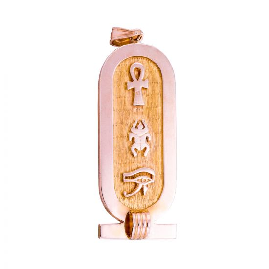 Customized Ancient Egyptian Hieroglyphic letters Gold Cartouche, Gold Cartouche Pendant