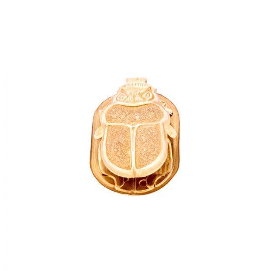 18K Gold Egyptian Wisdom Scarab Pendant Handmade, Gold Scarab Pendant