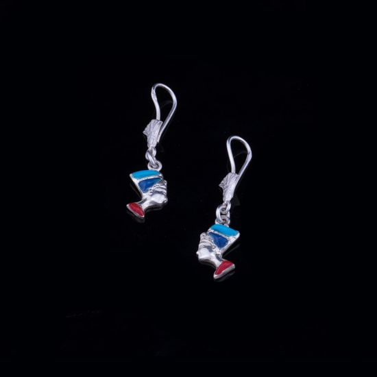 Nefertiti Earrings | Silver handmade Earrings