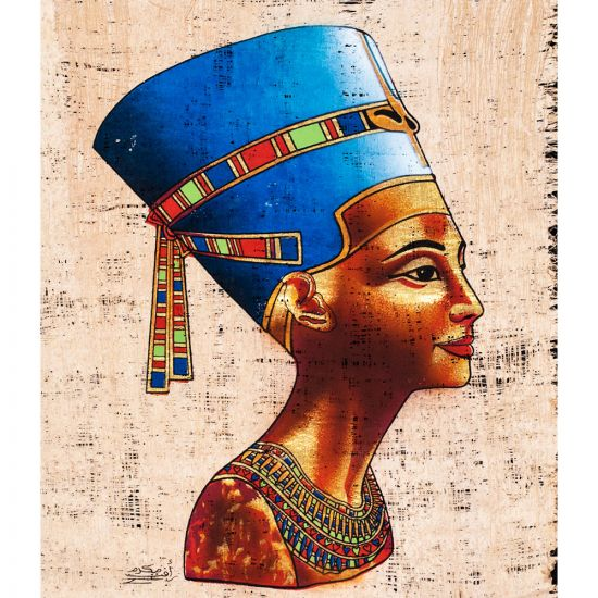 Egyptian Handmade unique Papyrus by talented artists, Nefertiti Papyrus