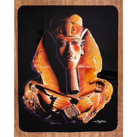 Masterpiece Portrait of Egyptian Papyrus for the Great King Akhenaten