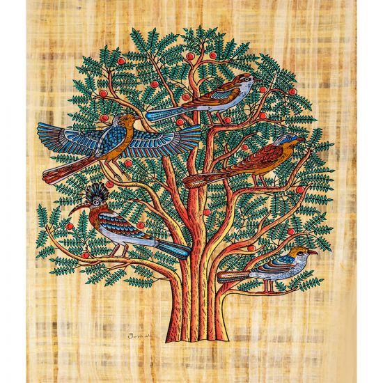tree of life painting handmade royal papyrus, handmade Egyptian papyrus