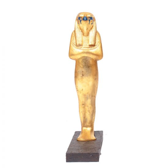 Horus statue For Sale symbolizing protection and power, Mahogany wood with master quality covered with Gold sheets