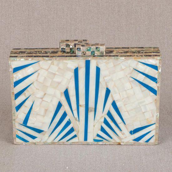 White Pearl Purse | White Pearl Clutch Bag | Mother of Pearl Clutches | Mother of Pearl Purse | Swan Bazaar