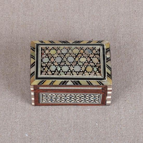 Vintage Wooden Jewellery Box   Pearl Jewelry Box   Mother of Pearl Jewelry Box   Mother of Pearl Boxes