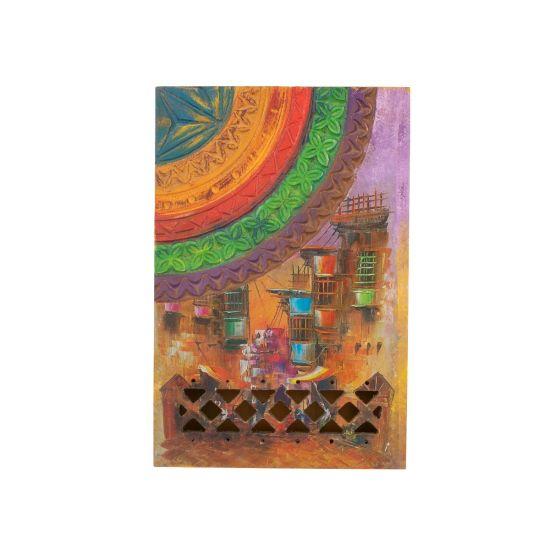 Vibrant Egyptian Folklore Hand-Drawn Multi-Purpose Wooden Jewelry Box