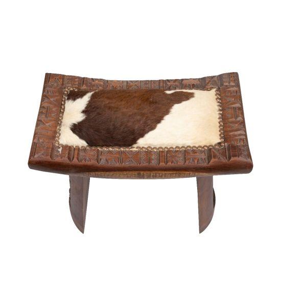 Leather Wooden Chair | Handmade Wood Furniture | Swan Bazaar
