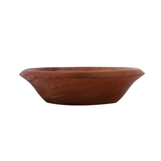 Khaya Wooden Bowl with Edges