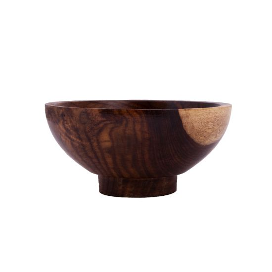 Aserus Wood Bowl with Base