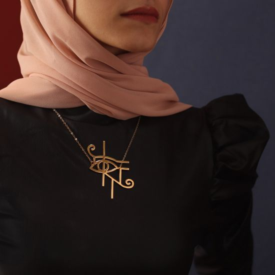 Eye of Horus Necklace Plated With 18K Gold