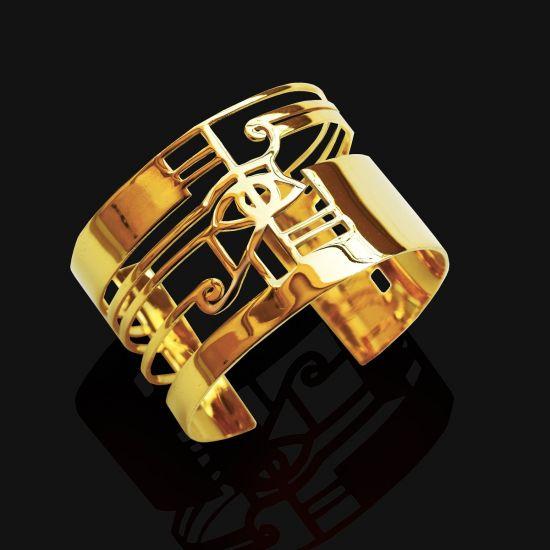 Eye of Horus Bracelet Plated With 18K Gold