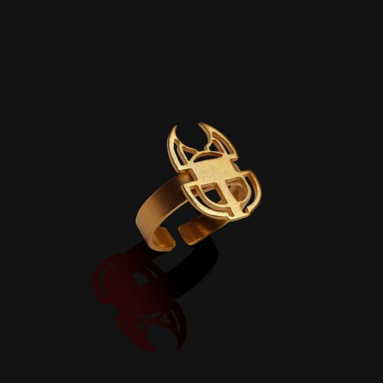 Scarab Ring Plated With 18K Gold
