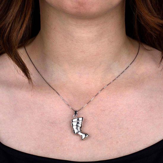 Sterling Silver Nefertiti Necklace