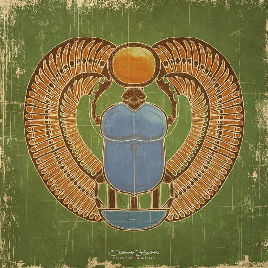 Ancient Egyptian Scarab | Mixed Media Collage Art | Art for Sale | Swan Bazaar