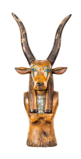 Charming Wooden Statue of God Maat
