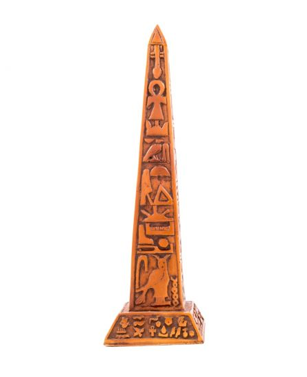 Handmade Wooden Ancient Egyptian Wood curved with Hieroglyphic letters, Wooden Obelisk For Sale