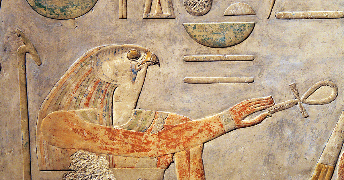 Horus, the Falcon Headed God, the Divine son of both Isis and Osiris, Find more about the most influential Gods and Goddesses in Ancient Egypt